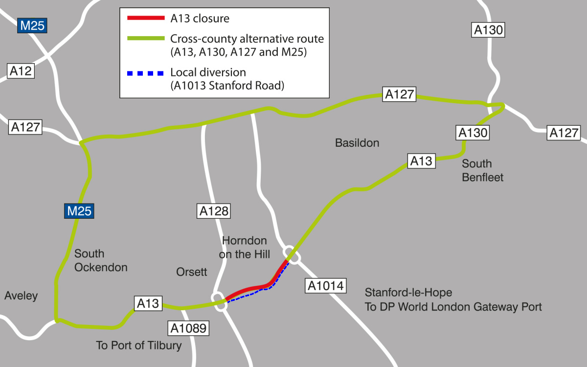 Widening the A13 | A13 roadworks | Thurrock Council