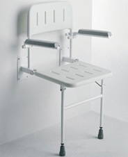 Wall-mounted shower seat