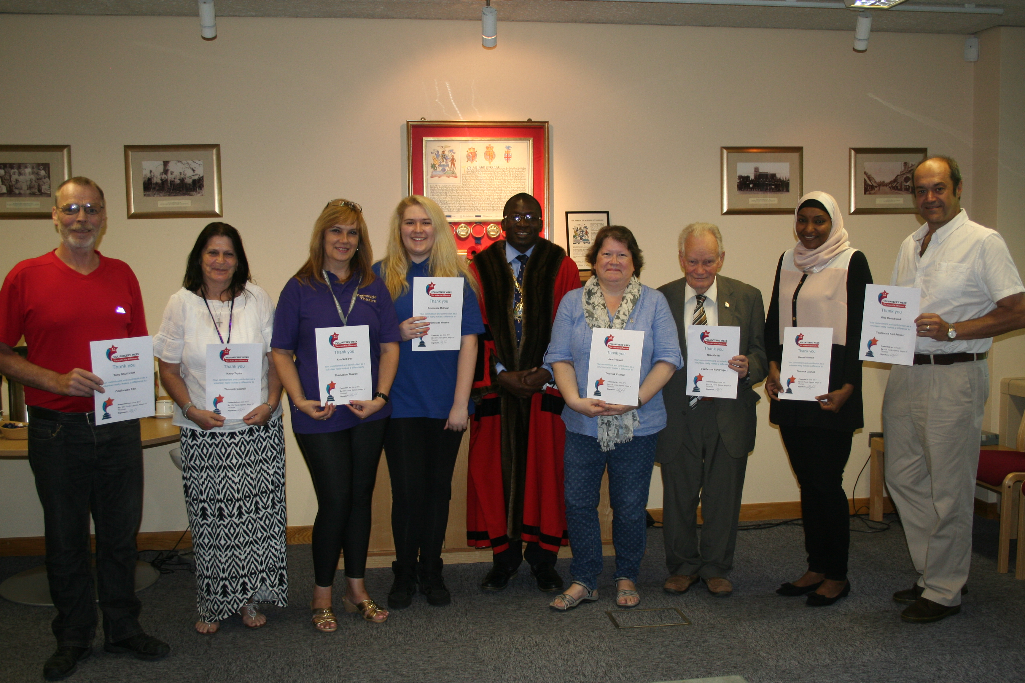 volunteers in thurrock awarded thurrock council. Black Bedroom Furniture Sets. Home Design Ideas
